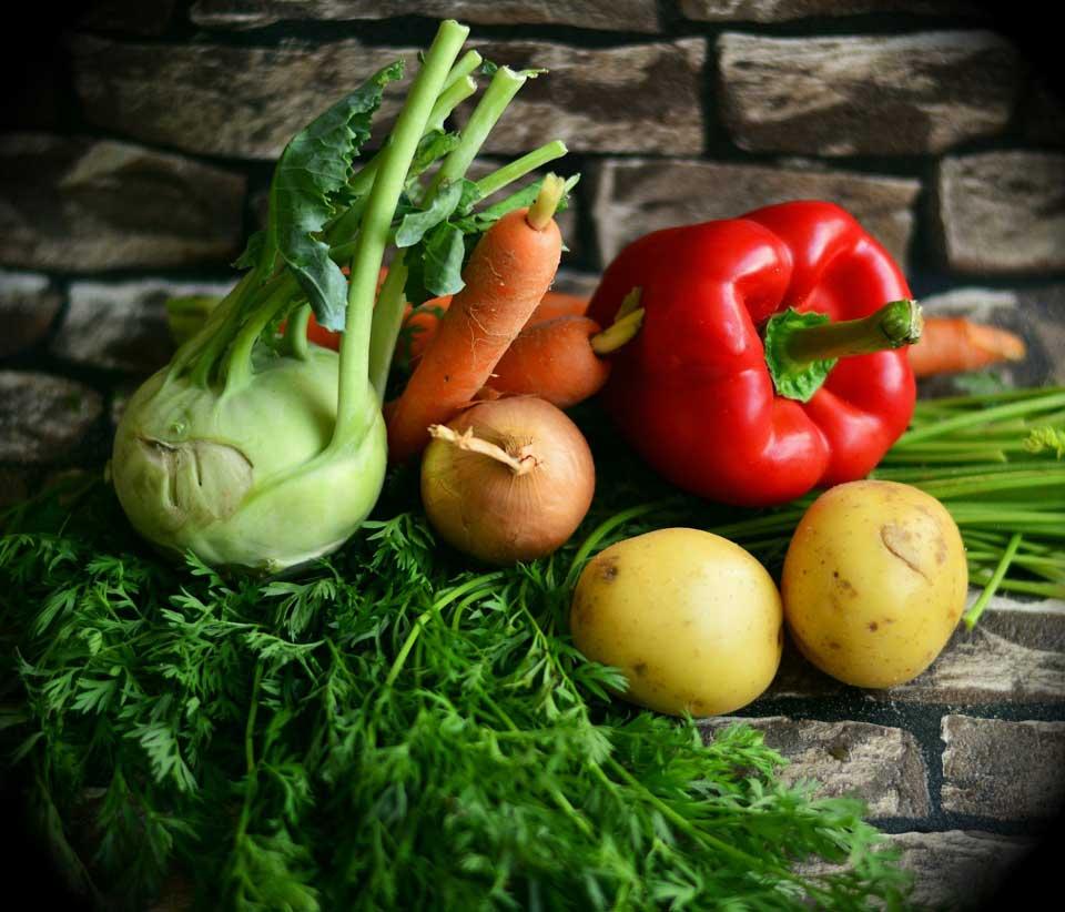 Auswahl an Gemüse der Saison